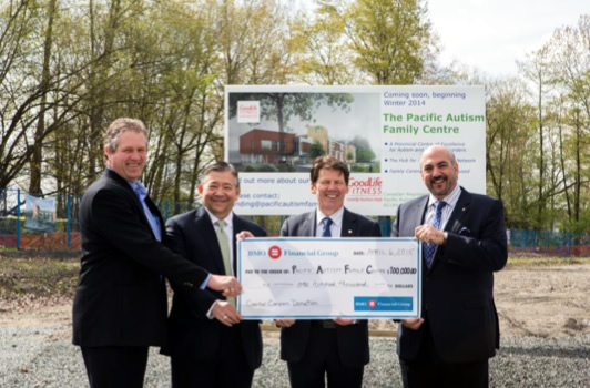 Pacific Autism Family Foundation Receives $100,000 Donation from BMO Financial Group