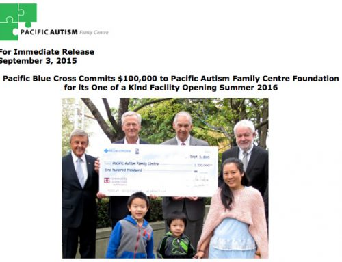 Pacific Blue Cross Commits $100,000 to PAFCF